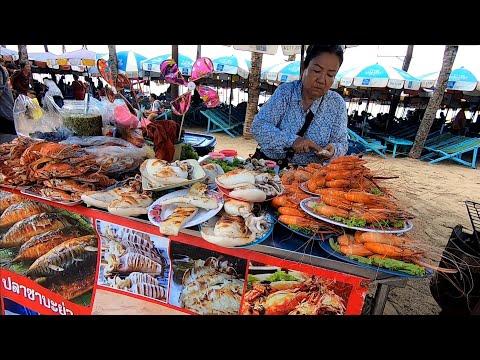 ตลาด อาหารทะเล ประมงพื้นบ้านอ่างศิลาใกล้บางแสน