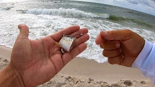 Surf Fishing with CUT BAIT in Rough Surf