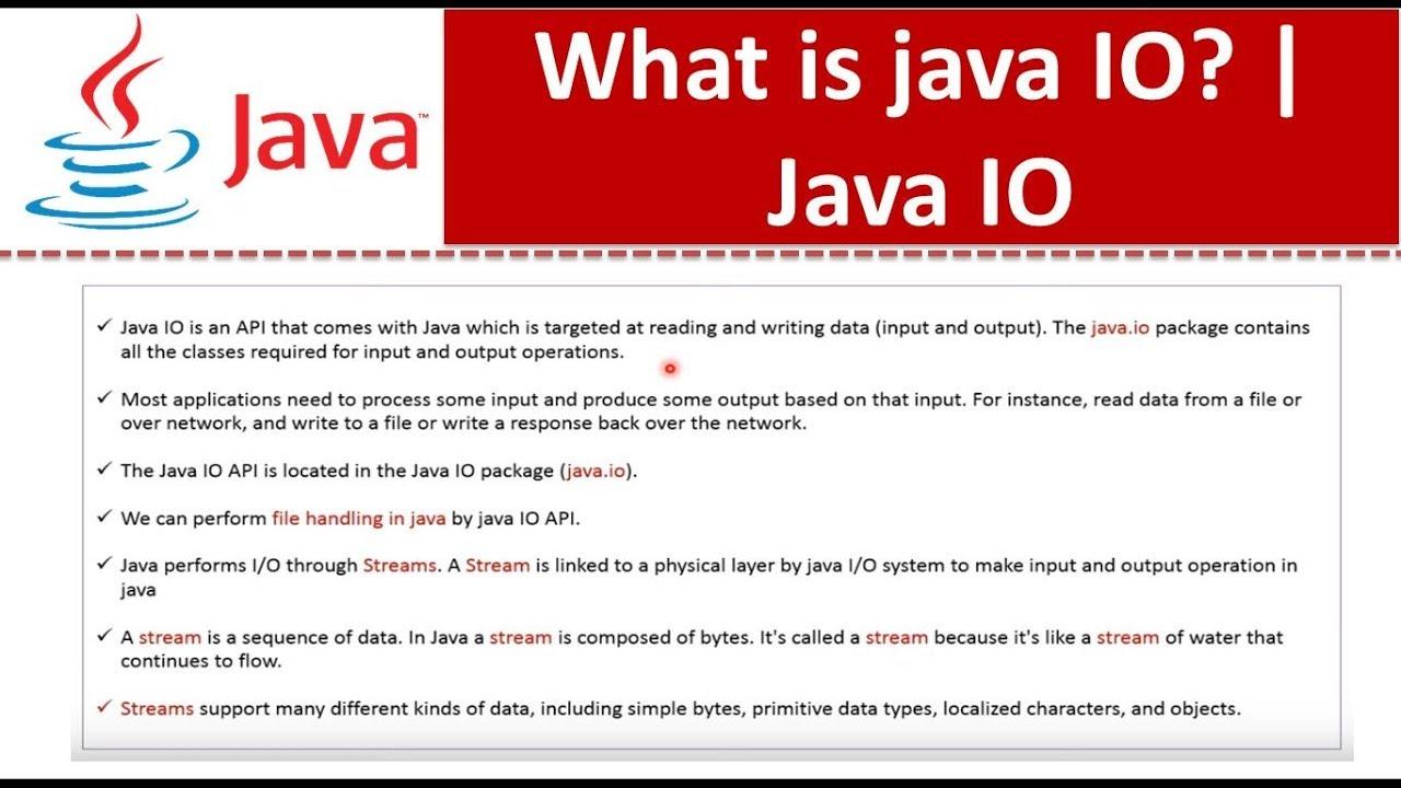 Java tutorial java io what is java io youtube java tutorial java io what is java io baditri Gallery
