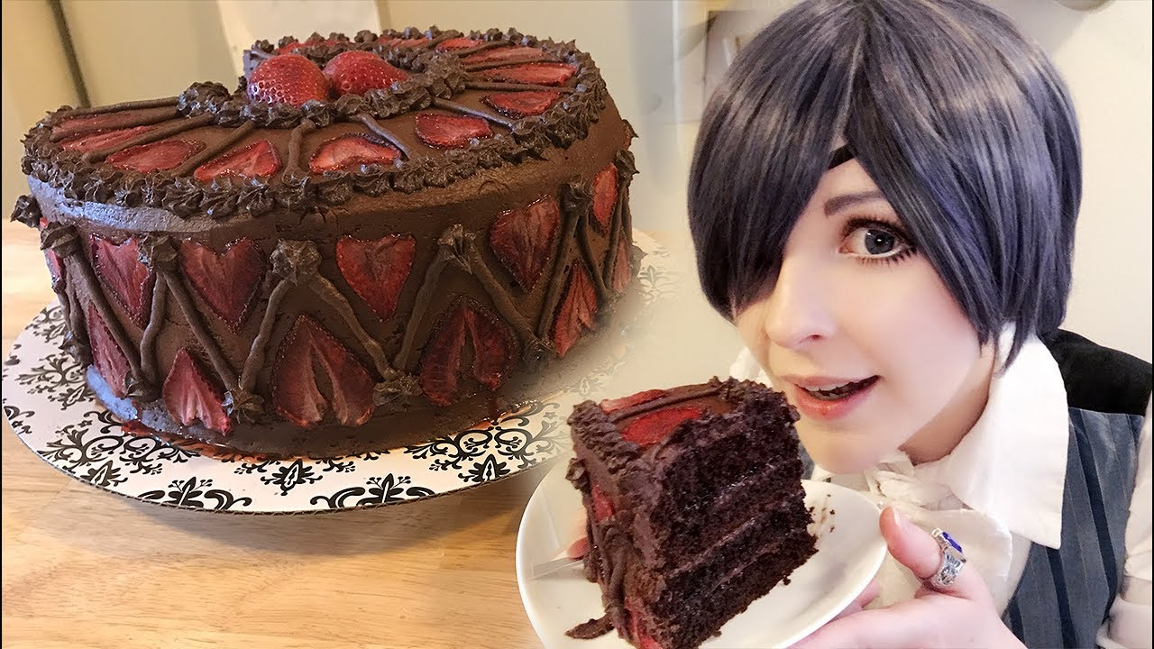 We Made a Black Butler Inspired Cake - YouTube