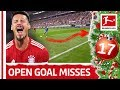 Top 5 Open Goal Misses So Far - James, Kramaric & Co. - Bundesliga 2018 Advent Calendar 17