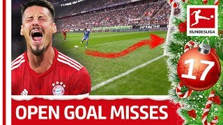Top 5 Open Goal Misses So Far - James, Kramaric & Co. - Bundesliga 2018 Advent Calendar 17