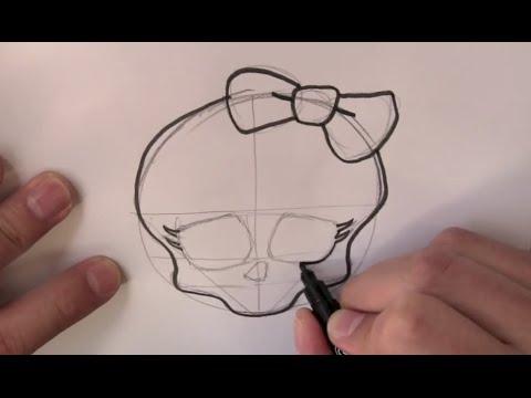 Wie Zeichnet Man Einen Monster High Totenkopf Youtube
