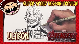 Lesson Preview: How to Draw ULTRON (Avengers: Age of Ultron) | Super Speed Time Lapse Art