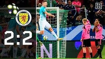 Bravehearts verpassen WM: Slowenien - Schottland 2:2 | Highlights | WM-Quali | DAZN