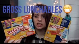 TRYING GROSS LUNCHABLES!!!!