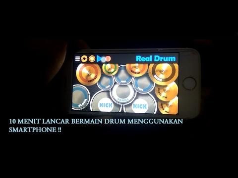 Tutorial lancar Teknik dasar bermain drum hanya dari aplikasi Smartphone !!! (Real Drum)