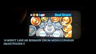 Tutorial lancar Teknik dasar bermain drum hanya dari aplikasi Smartphone !!! (Real Drum) MP3