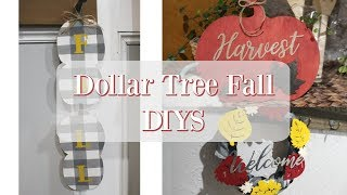 DOLLAR TREE FALL DECOR DIYS | FALL DECOR 2019