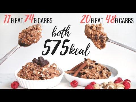 COOKIE DOUGH RECIPES | SAME CALORIES, DIFFERENT MACROS (HIGH VS LOW FAT)