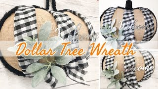 FALL WREATH | FARMHOUSE FALL DECOR | FALL DOLLAR TREE DIY