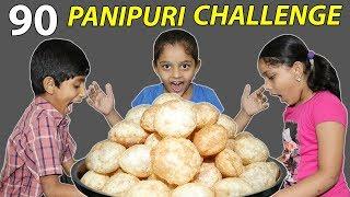90 Golgappa Eating Challenge | Pani Puri Competetion | Kids VS Golgappa