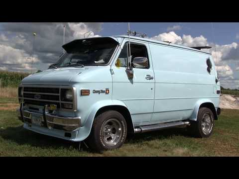 Christopher Muench And Big Blue. Custom 1992 G 20 Chevy Van.