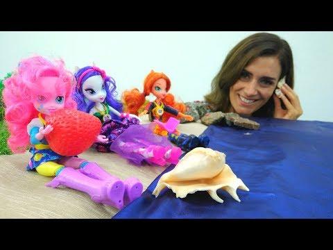 LUSTIGE SCHULE mit #MyLittlePony: Equestria Girls gehen ans Meer 🌊 Zeichentrickfilm auf Deutsch