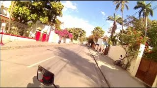Motorcycle ride in Petionville, Haiti