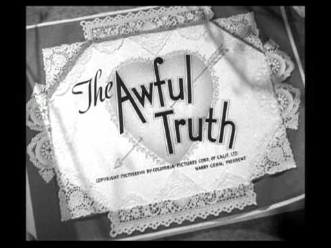 Film Intro to The Awful Truth - 1937