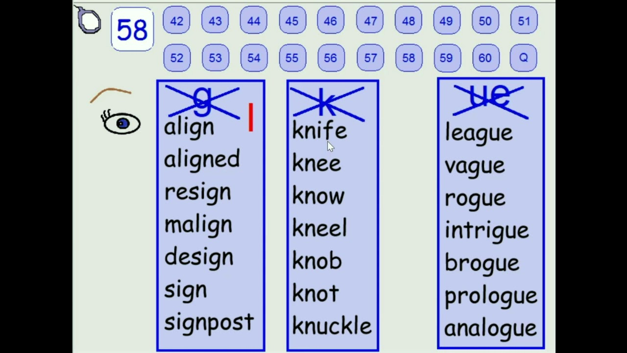 A Z Phonics 58 Silent Letters Such As K Ue G