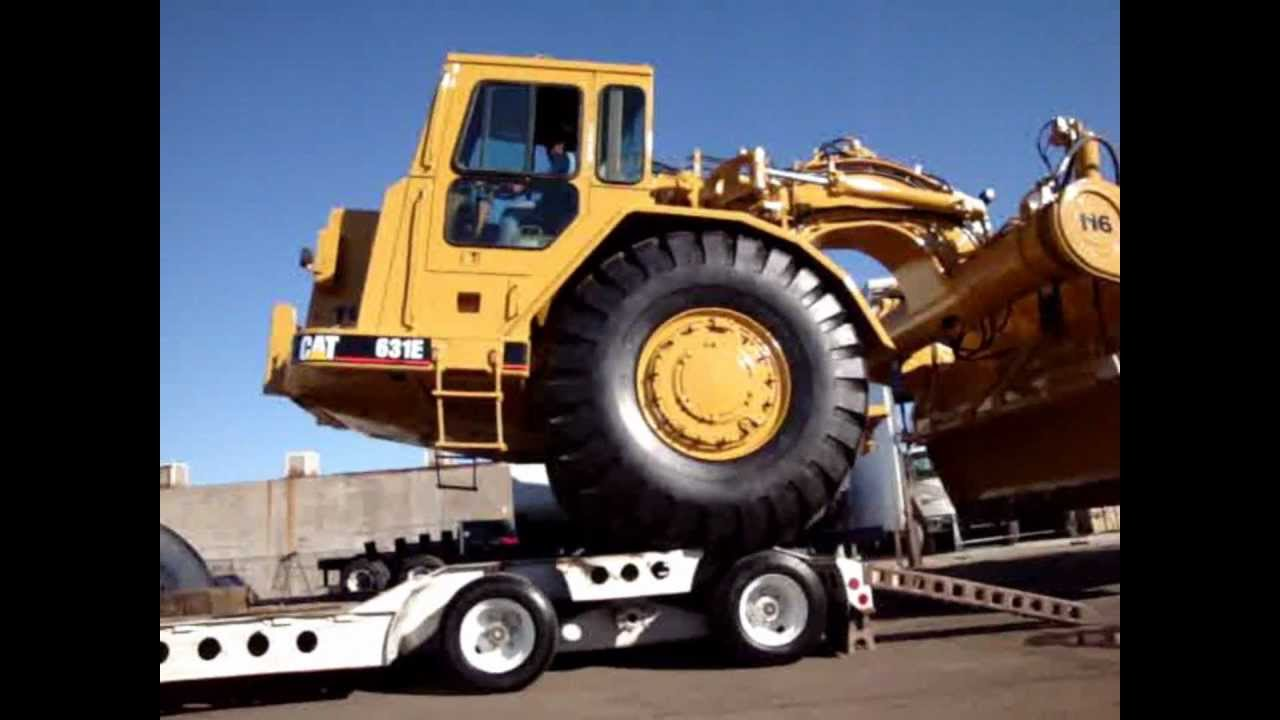 Cat Pulling Wagon : Truck works inc cat water wagon pull loading up youtube