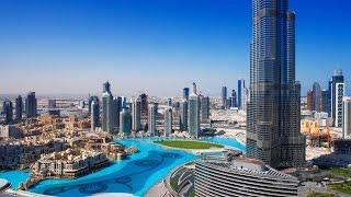 UAE Dubai At The Top Burj Khalifa Fountain Show Dubai Mall