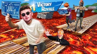 Fortnite.. But THE FLOOR IS LAVA! (Infinite Lists LIVE)