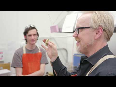 Adam Savage's Maker Tour: Making a Metal Fidget Spinner