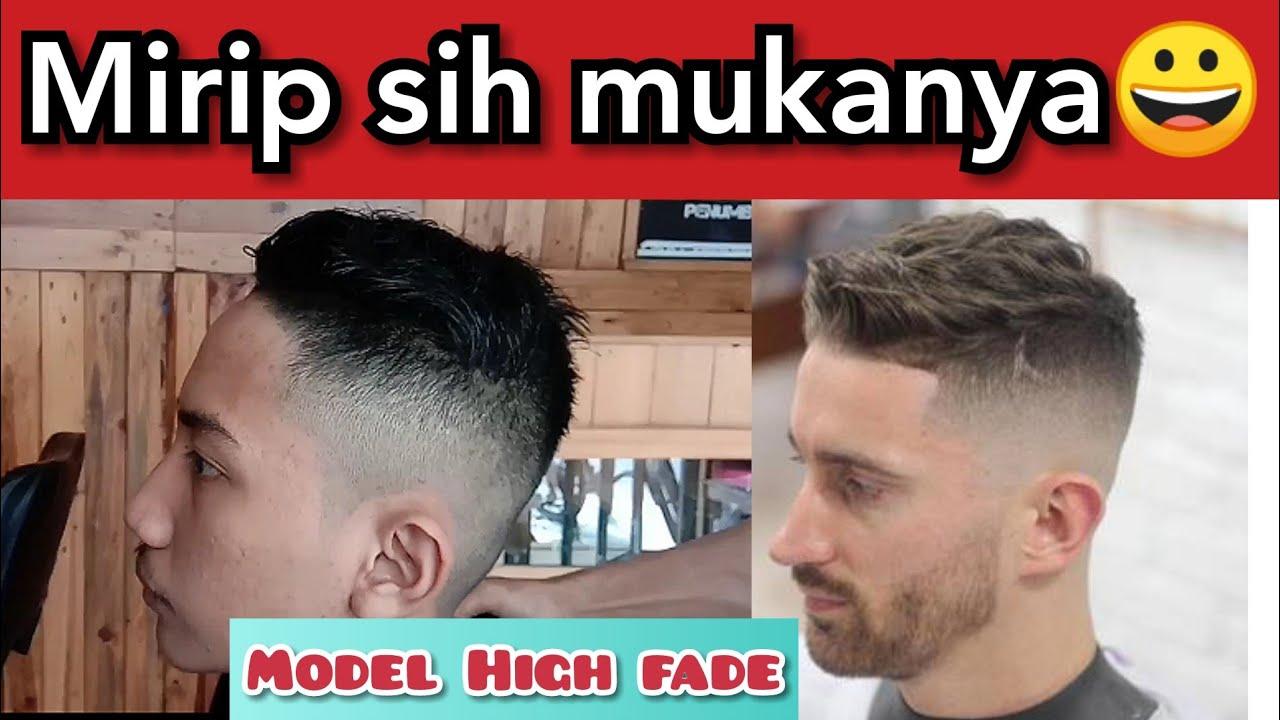 HIGH FADE UNDERCUT. Potong Rambut Pria Keren - YouTube