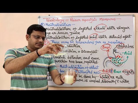 Toxicology (Part-08) Principle of Treatment of Poison (02)= Activated Charcoal and Neutralization