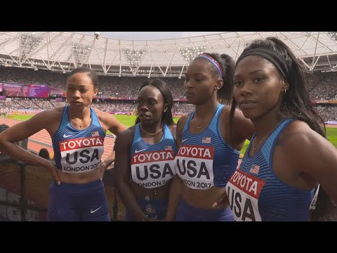 WCH 2017 London –Team USA 4X100 Metres relay Heat 1