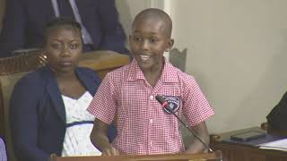 Keino, age 10, demands action to #ENDviolence against children