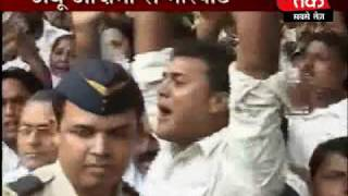 SP activists protest in UP