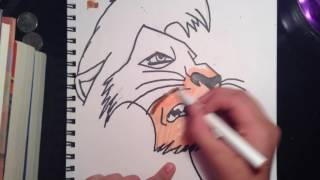 Drawing Kovu-The Lion King ll, Simba