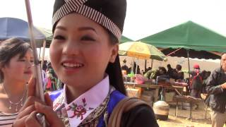 Beautiful Hmong Girl at the New Year In Xiengkhouang, Laos 2014