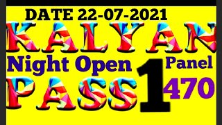 Kalyan Night Jodi -22-07-2021,Thursday Kalyan Night Fix Ank OTC Tricks, today night