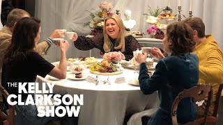 The 'Downton Abbey' Cast And Kelly Play 'Sip It And Spill It'   The Kelly Clarkson Show