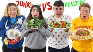 COOKING JUNK VS HEALTHY FOOD CHALLENGE!