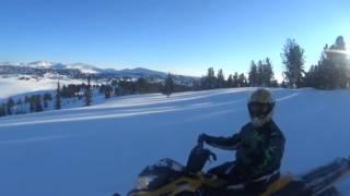 Покатушки на снегоходах в 30-градусный мороз. Манское Белогорье. Прииск Юльевский