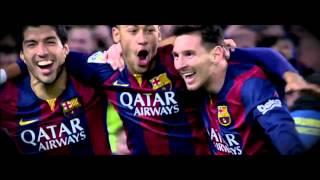 Celebration Goal 3 - Barcelona 3-1 At.Madrid (Messi,Neymar,Suarez)
