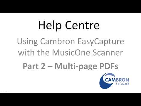 Cambron EasyCapture (part2) Multi-page PDFs