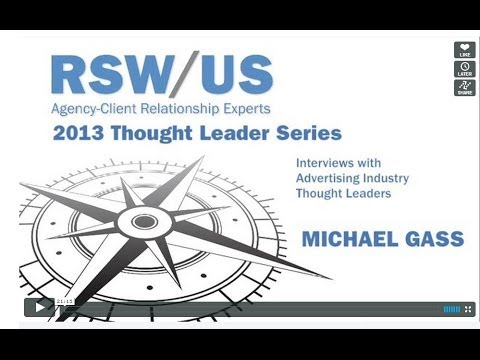 RSW/US Agency New Business Thought Leader Interview with Michael Gass