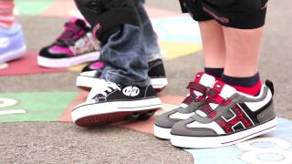 Having Fun on Heelys in the Playground