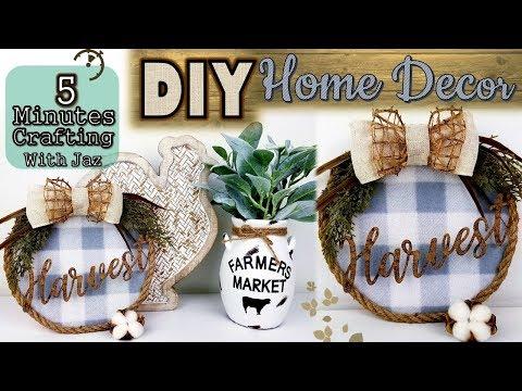5 MINUTES CRAFTING No. 6 | DOLLAR TREE DIY | FARMHOUSE FALL DECOR