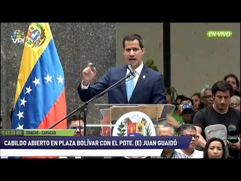 EN VIVO - Cabildo abierto convocado por el Pdte. (E) Juan Guaidó