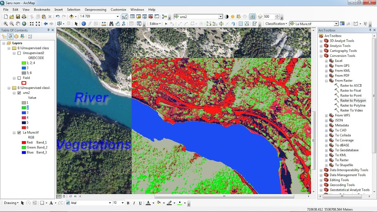 Arcgis Unsupervised Classification Of Satellite Image