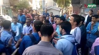 طلاب الدبلومات الفنية يتظاهرون أمام التعليم العالى