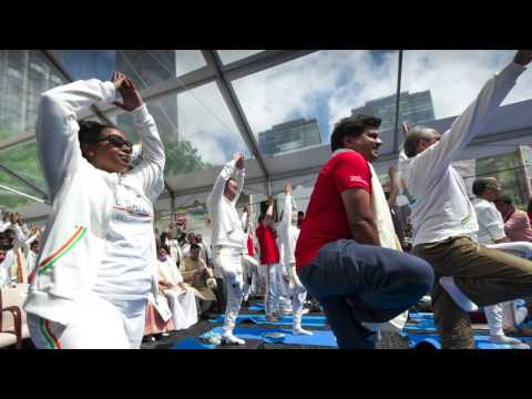 First International Day of Yoga celebrated at the United Nations (Audio Slideshow)