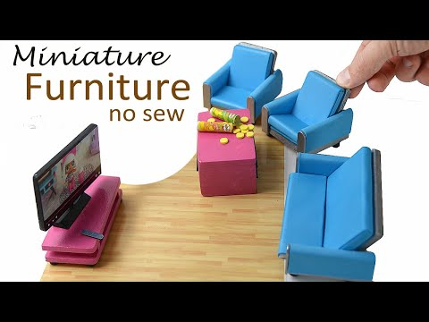Easy DIY Furniture for L.O.L. Surprise dollhouse (No Sew)