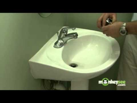 Pedestal Sink Installation - Faucet Selection - YouTube