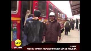 Así se desarrolló el primer recorrido de prueba del Metro Wanka