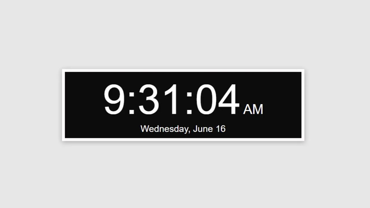 How to Create a digital clock with date using JavaScript