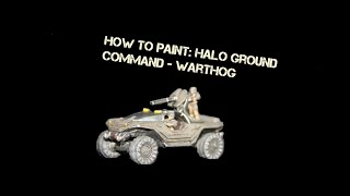 How to paint halo: Warthog